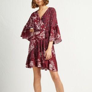 Ellette Faux-Wrap Dress Framboise